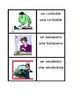 Profesiones (Professions in Spanish) Vocabulary Concentration games