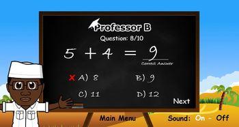 Professor B:  Interactive maths addition