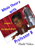 Professor B's Flash! Video Series:  Lesson 1 - The Music Staff