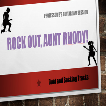 Professor B's Guitar Jam Session -  Go Tell Aunt Rhody (Duet and Backing Tracks)