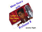 Professor B's Music Theory Lesson 2-The Treble Clef Bundle