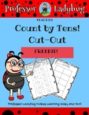 Professor Ladybug: Count By Tens Number Cut-Out FREEBIE