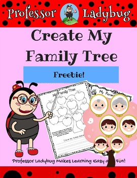professor ladybug create my family tree freebie workbook by
