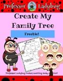 Professor Ladybug: Create My Family Tree Freebie Workbook
