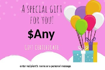 Professor Ladybug Editable Gift Certificates for Any Occasion