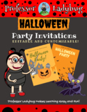 Professor Ladybug: Editable Halloween Party Invitations