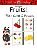 Professor Ladybug: Full Color Fruit Flashcards and Posters
