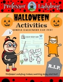 Professor Ladybug: Halloween Activity Freebie Workbook