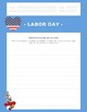 Professor Ladybug Patriotic Labor Day Writing Prompts (PowerPoint)
