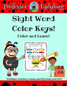 Professor Ladybug: Sight Word Color Keys Exercise