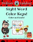 Professor Ladybug: Sight Word Color Keys Exercise