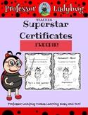 Professor Ladybug Superstar Certificates! Printable Achiev