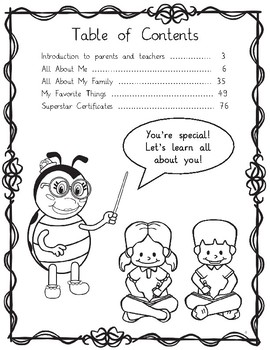 Professor Ladybug Teaches All About Me: Back-to-School Activity Workbook