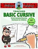 Professor Ladybug Teaches Basic Cursive: Script Alphabet E