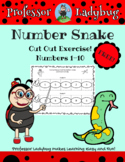 Professor Ladybug Teaches: Number Sequencing Snake Cut Out 1-10