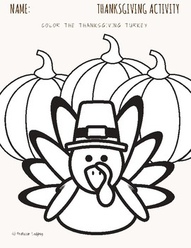 Professor Ladybug Thanksgiving Activity Freebie!