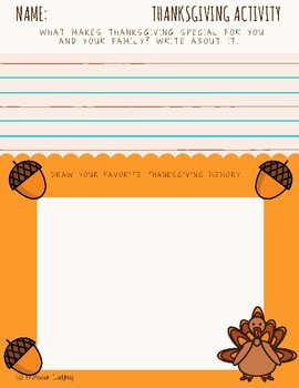 Professor Ladybug Thanksgiving Activity Freebie!