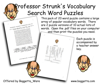 Professor Strunk's Word Puzzle Pack