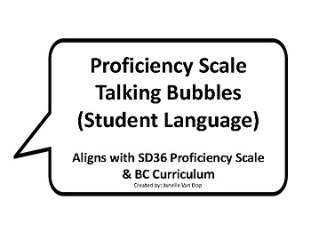Proficiency Scale (SD36) Student Language: Links to New BC Curriculum Assessment
