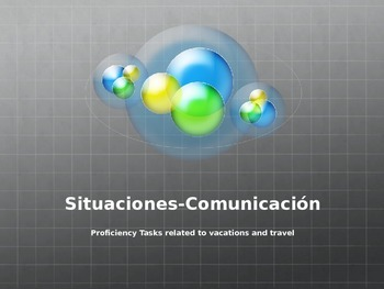 Proficiency speaking tasks related to vacations and travel