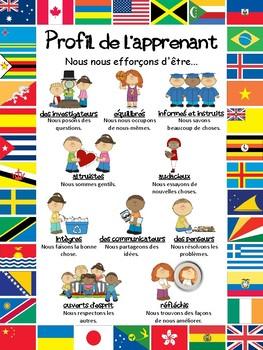 Profil de l'apprenant (A3/A4 Learner Profile Poster in French)