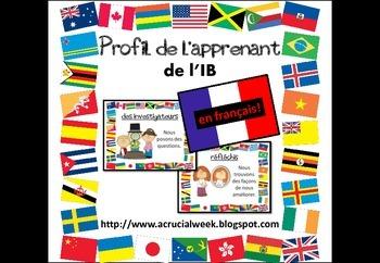 Profil de l'apprenant de l'IB - IB Learner Profile Posters in French