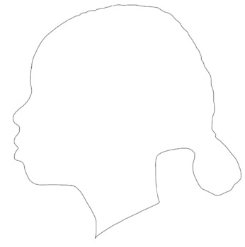 Profile Clip Art--Side Profiles of Girls and Boys