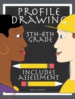 Profile Drawing Middle School Art Unit
