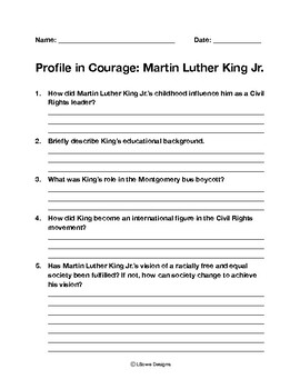 Profile in Courage: Martin Luther King Jr.