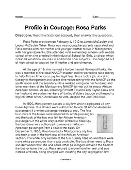 Profile in Courage: Rosa Parks