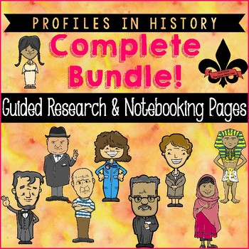 Profiles in History Guided Research Activity--Mega Bundle!