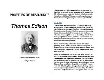 Profiles of Resilience: Thomas Edison