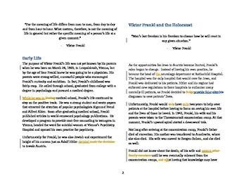 Profiles of Resilience: Viktor Frankl