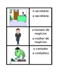 Profissões (Professions in Portuguese) Vocabulary Concentration Games