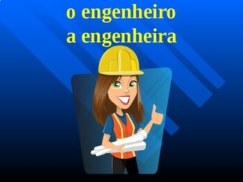 Profissões (Professions in Portuguese) PowerPoint