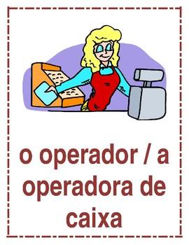 Profissões (Professions in Portuguese) Posters