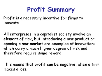 Profit Maximisation & Types of Profits for a Firm - Microeconomics