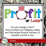Profit Or Loss {Math Workshop Game}