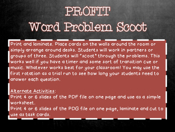 Profit Scoot (Personal Financial Literacy)