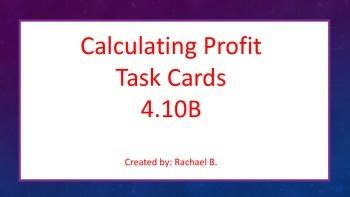 Profit Task Cards TEK 4.10B