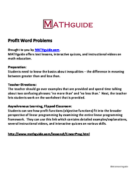 alge 2 word problems worksheets – osklivkaka apromena info moreover Profit Word Problems  Linear Programming by MATHguide   TpT besides Linear Programming Word Problems Worksheet Fresh K Nearest Neighbors likewise System Of Inequalities Word Problems Worksheet   Siteraven additionally Alge II   Chapter 2 Day  1 together with Free Grade Alge Worksheets Math Eighth Homework Sat 8 Linear together with Linear Programming Word Problems With Answers Math Developing Model additionally Linear Programming  Word Problems and Applications moreover alge 2 word problems worksheet – spansalonguide club further Linear Programming  Word Problems and Applications together with  additionally Introduction to Linear Programming   She s Math together with  also  further Pleasant Alge 2 Word Problems Linear Equations for solving furthermore One Step Inequality Word Problems Worksheet Best Of Linear. on linear programming word problems worksheet