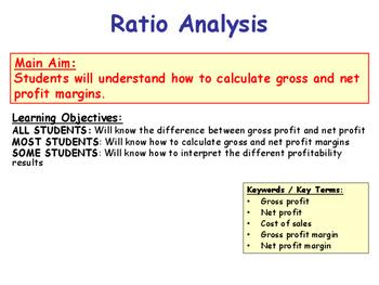 Profitability Ratios - Gross & Net Profit Margin - Income Statement & P&L