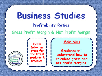 Profitability Ratios - Gross & Net Profit Margin - Income