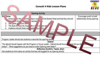 Program & Class Openings-12 Months of Lesson Plans for K-5! OVER 250 LESSONS!