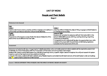 Program Ready Unit - People and Their Beliefs + ICT