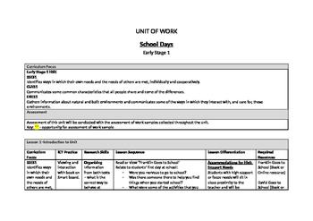 Program Ready Unit - School Days