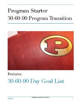 Program Starter 30-60-90 Day Goal List for Program Transition