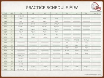 Program Starter Calendar and Practice Schedules for Mac