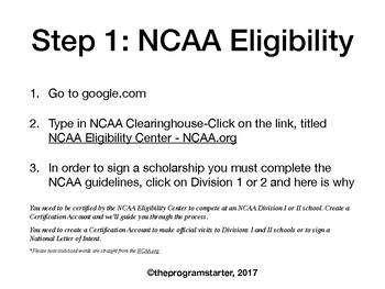 Program Starter- College Eligibility Packet