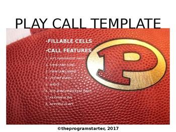 Program Starter Football Play Calling Template